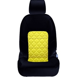 Honda Civic Seat Covers Black Yellow Design 2 - Model 2016-2020-SehgalMotors.Pk