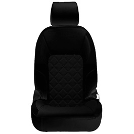 Honda Civic Seat Covers Black Design 3  - Model 2016-2020-SehgalMotors.Pk