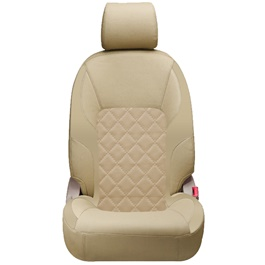 Toyota Corolla Seat Cover Beige Design 3 - Model 2014-2017-SehgalMotors.Pk