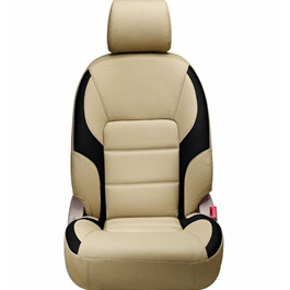 Toyota Corolla Seat Covers Beige Black - Model 2014-2017-SehgalMotors.Pk