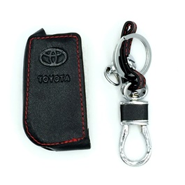 Toyota Fortuner Leather Key Cover 3 Button - Model 2016-2019-SehgalMotors.Pk