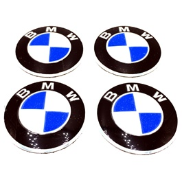 BMW Wheel Cap Logo Black - 4 Pieces-SehgalMotors.Pk
