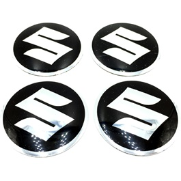 Suzuki Wheel Cap Logo Black - 4 Pieces-SehgalMotors.Pk