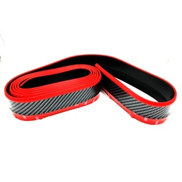 Rubber Lip Carbon Fiber Black with Red Tip-SehgalMotors.Pk