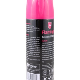 Flamingo Dashboard Polish Al Oud 450ml - Black & Pink-SehgalMotors.Pk