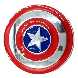 Captain America Metal Monogram Red Chrome-SehgalMotors.Pk