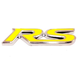 RS Metal Monogram Chrome Yellow-SehgalMotors.Pk