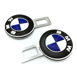 BMW Seat Belt Clips Black White Blue | Safety Belt Buckles Real Trucks Car Seat Safety Belt Alarm Canceler Stopper | Car Safety Belt Clip Car Seat Belt Buckle-SehgalMotors.Pk