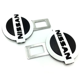 Nissan Seat Belt Clips Black White  | Safety Belt Buckles Real Trucks Car Seat Safety Belt Alarm Canceler Stopper | Car Safety Belt Clip Car Seat Belt Buckle-SehgalMotors.Pk