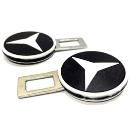 Mercedes Benz Seat Belt Clips Black White | Safety Belt Buckles Real Trucks Car Seat Safety Belt Alarm Canceler Stopper | Car Safety Belt Clip Car Seat Belt Buckle-SehgalMotors.Pk