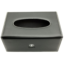 Toyota Leather Tissue Box Black-SehgalMotors.Pk