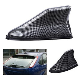 Shark Car Antenna Stylish Decorative Purpose Carbon fiber Black-SehgalMotors.Pk
