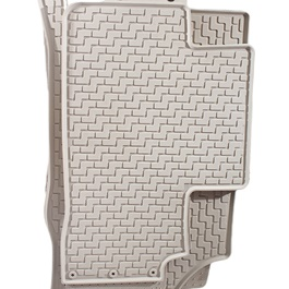 Honda Civic Rubber Floor Mats - Beige - Model 2016-2019-SehgalMotors.Pk