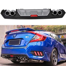 Honda Civic Kantara Style Dual Exhaust Diffuser- Model 2016-2017