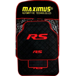 Maximus RS PVC Floor Mat Black Red-SehgalMotors.Pk