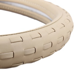 New Leather Strips Steering Cover - Beige-SehgalMotors.Pk