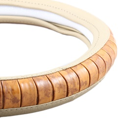 Wooden Beige Steering Cover-SehgalMotors.Pk