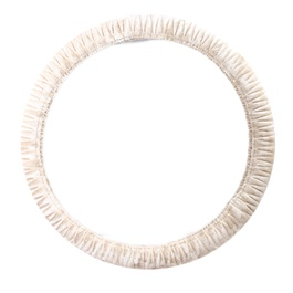White Fur Steering Cover-SehgalMotors.Pk