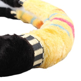 Black and Yellow Multi Fur Steering Cover-SehgalMotors.Pk