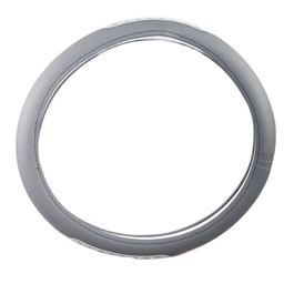 Grey Racing Style Steering Cover-SehgalMotors.Pk