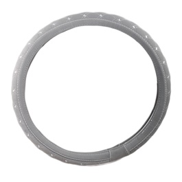 Grey Cross Style Steering Cover-SehgalMotors.Pk