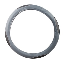 Grey Black Eye Steering Cover-SehgalMotors.Pk