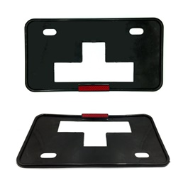 License Number Plate Frame with Reflector - Pair