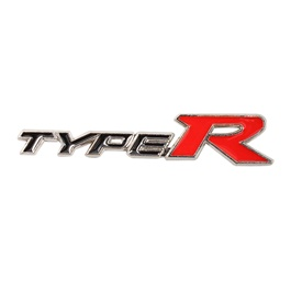 Type R Metal Logo Black Red - Each