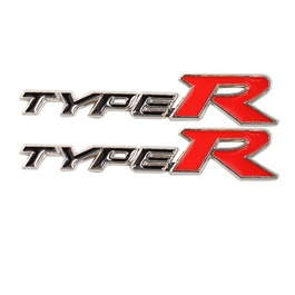 Type R Logo Black Red - Each | Emblem | Decal | Monogram | Logo-SehgalMotors.Pk