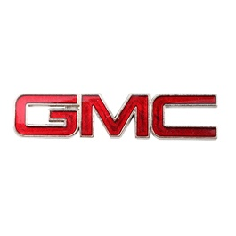GMC Metal Logo Red - Each