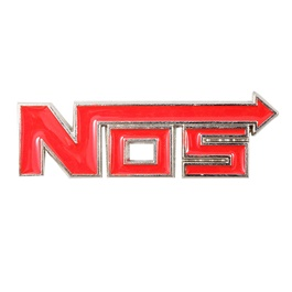 NOS Metal Logo Red