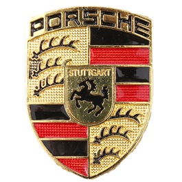 Porsche Metal Logo Multi Color