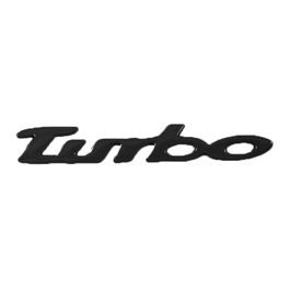 Turbo Metal Logo Black Large