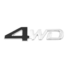 4WD Metal Monogram Black Chrome Large