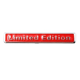 Limited Edition Metal Logo Red