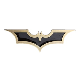 Batman Metal Logo Black Gold
