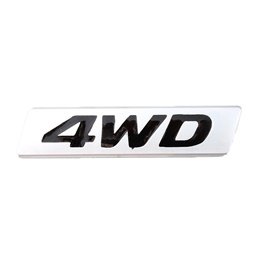 4WD Metal Logo Black Chrome-SehgalMotors.Pk