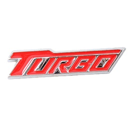 Turbo Metal Logo Red Chrome