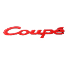 Coupe Metal Logo - Red