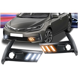 Toyota Corolla Mustang Style Face Lift DRL Cover - Model 2017-2018