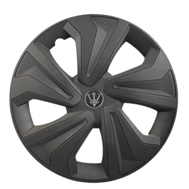 Black Matte Wheel Cap - WKO1BK - 15 inches | Tire Wheel Cover | Wheel Center Cover | Wheel Decoration Item-SehgalMotors.Pk