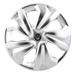 Crown  Full Matte Chrome Silver Wheel Cap - WK06CR - 15 inches | Tire Wheel Cover | Wheel Center Cover | Wheel Decoration Item-SehgalMotors.Pk