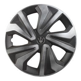 Crown Black and Grey Wheel Cap - WK11GR - 12 inches-SehgalMotors.Pk