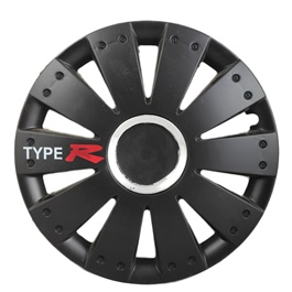 Type R Wheel Cover Black - 1292 - 12 inches-SehgalMotors.Pk