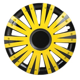DC Black with Double Thick Yellow Lining Wheel Cover - 1292 - 12 inches-SehgalMotors.Pk
