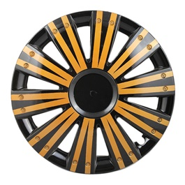 DC Black with Double Thick Gold Lining Wheel Cover - 1292 - 12 inches-SehgalMotors.Pk