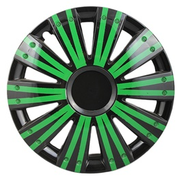 DC Black with Double Thick Green Lining Wheel Cover - 1292 - 12 inches-SehgalMotors.Pk