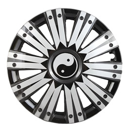 DC Black with Silver Double Thick Lining Wheel Cover - 1292 - 12 inches-SehgalMotors.Pk