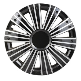 DC Black with Silver Tripple Thin Lining Wheel Cover - 1292 - 12 inches-SehgalMotors.Pk