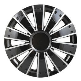 DC Black with Silver Thin Lining Wheel Cover - 1292 - 12 inches-SehgalMotors.Pk